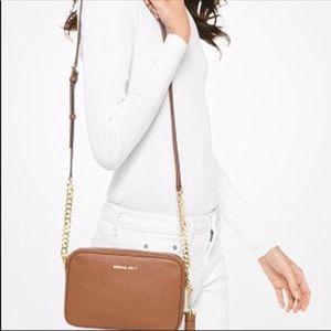 Michael Kors Leather Crossbody Bag.